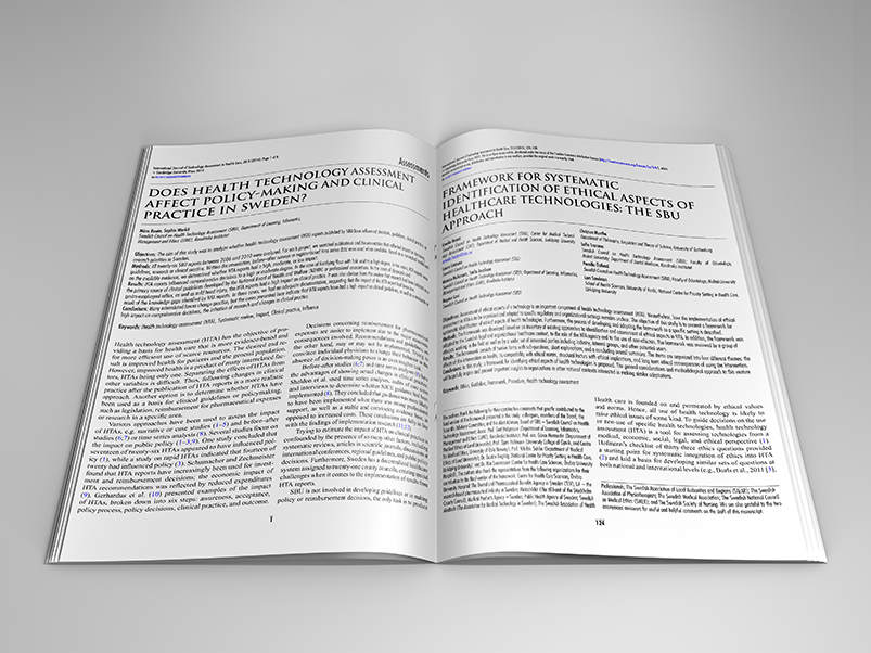 Articles published in International Journal of Technology Assessment in Health Care